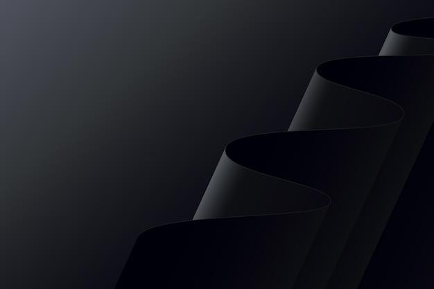 Black wavy shapes background