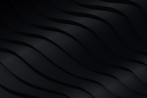 Black wavy shapes background