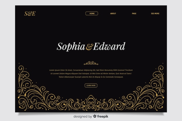 Black wedding landing page