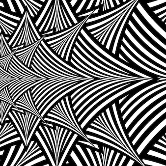 Black and white abstract hypnotic background. eps10