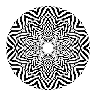 Black and white abstract optical illusion