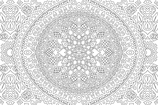 Black and white art for coloring book page