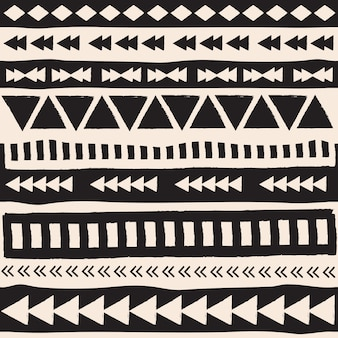 Black and white aztec elements