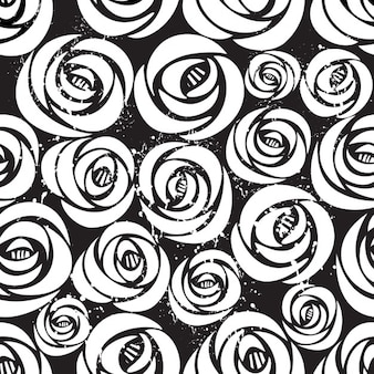 Black and white background with flowers