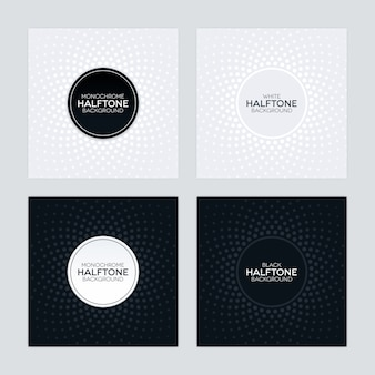 Black and white background with halftone textures