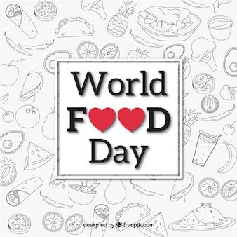 Sfondo in bianco e nero per il giorno del cibo mondiale