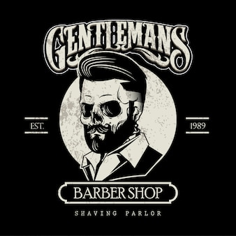 Black and white barber logo