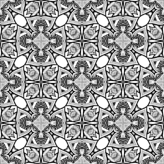 Black and white batik pattern background