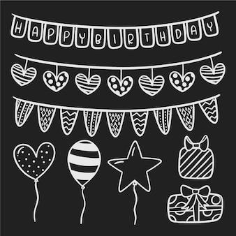 Decorazione di compleanno in bianco e nero