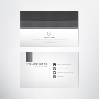 Black and white business card template,contact and company card design,