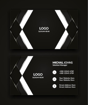 Black and white business card templates.