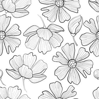 Black and white camellia