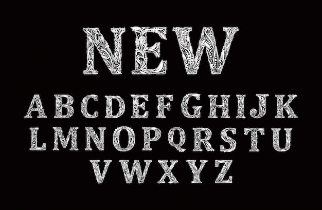 Black and white capital letter a alphabet vector