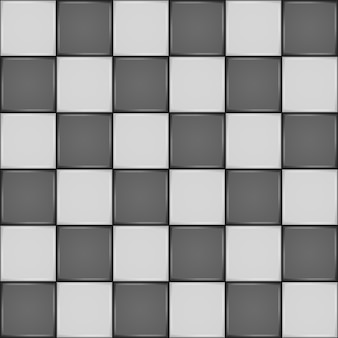Black and white ceramic tile. bathroom wall or floor seamless pattern
