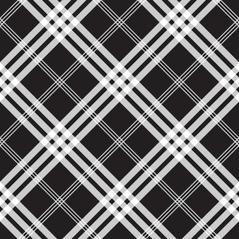 Black and white check pixel square fabric texture seamless pattern