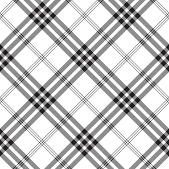 Black white check pixel square fabric texture seamless pattern
