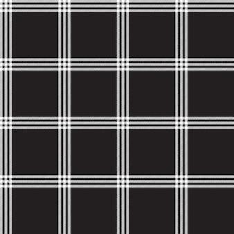 블랙 화이트 체크 무늬 패브릭 질감 원활한 패턴