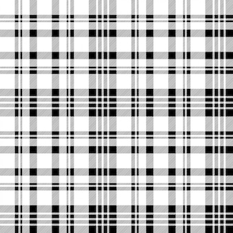 Black white check plaid seamless pattern