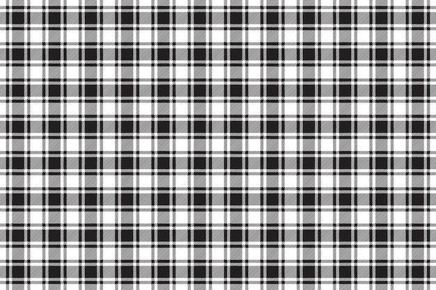 Black white check plaid texture seamless pattern background