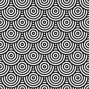 Black and white circle pattern for background