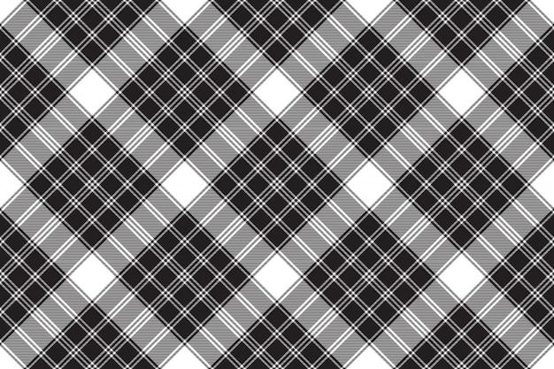 Black white classic check plaid seamless pattern
