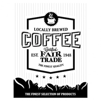 Black and white coffee poster