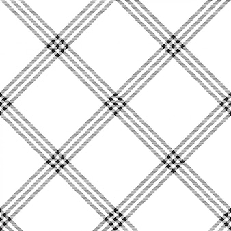 Black white color plaid seamless pattern