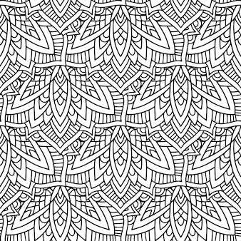 Black and white color tribal
