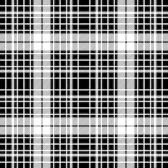 Black and white diagonal plaid seamless pattern