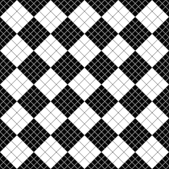 Black and white diagonal square pattern background