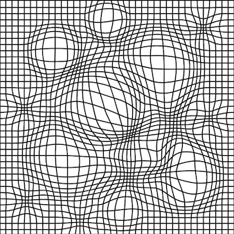 Black and white distorted grid seamless pattern. vector illustration. deforn grid,distortion,techno seamless pattern wallpaper concept