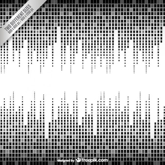 Black and white equalizer background