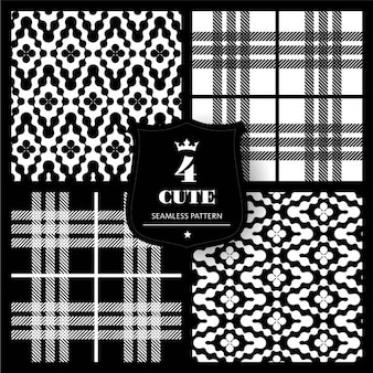 Black and white fabric pattern set
