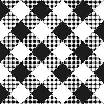 Black and white fabric texture. flat tablecloth pattern.