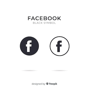 free vector | black and white facebook symbol  freepik
