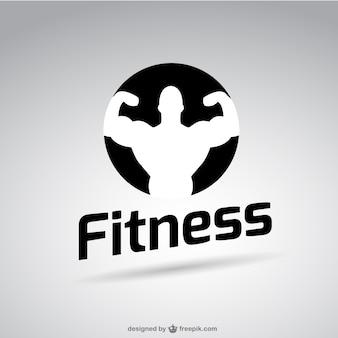 Black and white fitness logo