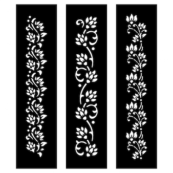 Black and white floral cut file