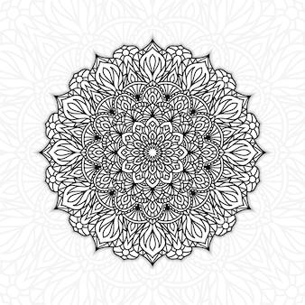 Black and white floral mandala