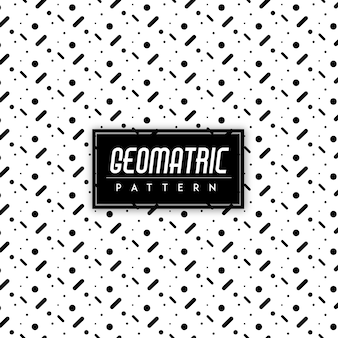 Black and white geomatric seamless pattern background