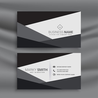 Black and white geometric business card template