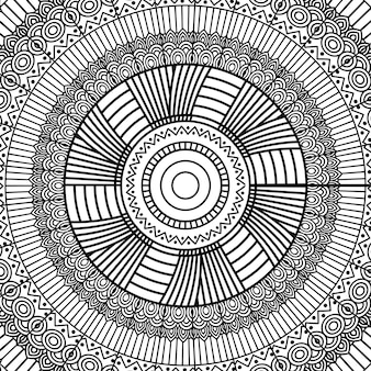 Black and white geometric mandala