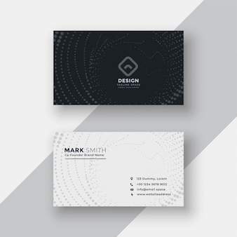 Black and white halftone business card