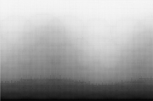 Black and white halftone dots texture background
