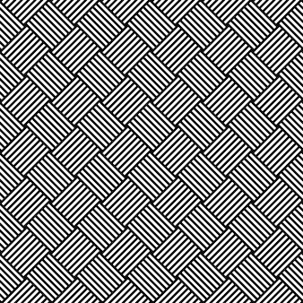 Black and white hypnotic background seamless pattern.  illustration