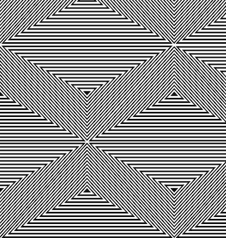 Black and white kinetic background made with triangles