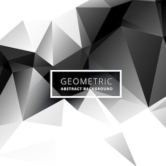 Black and white low poly background