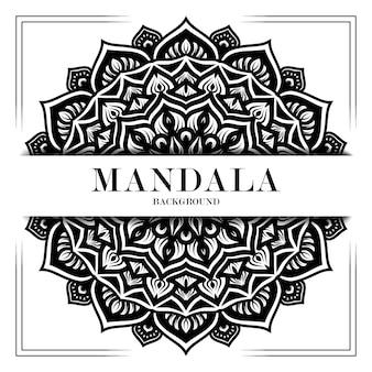 Black and white luxury mandala background ornament decoration
