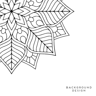 Black and white mandala background