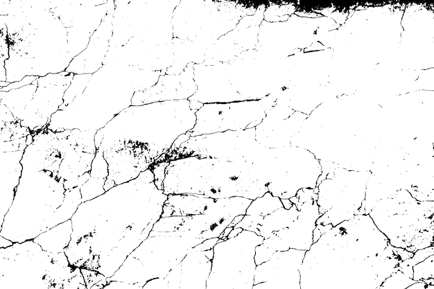 Black and white marble cracks simple texture.
