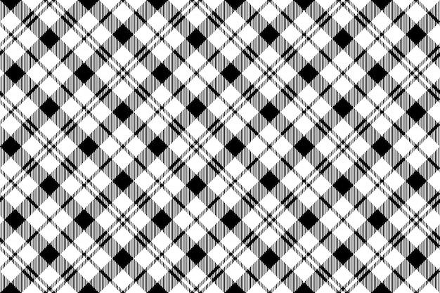 Black white milytary tartan seamless